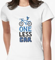One Less Car Women's Fitted T-Shirt