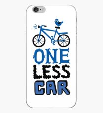 One Less Car iPhone Case