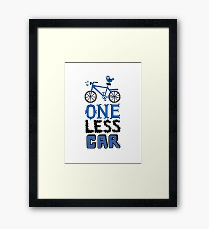 One Less Car Framed Print