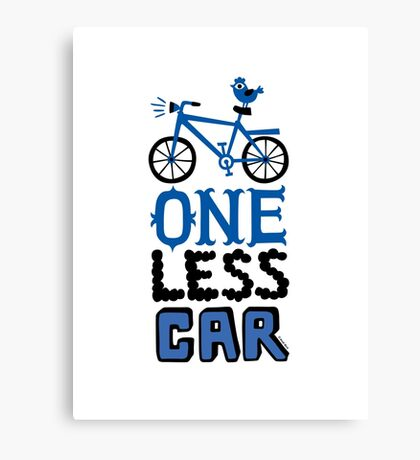 One Less Car Canvas Print