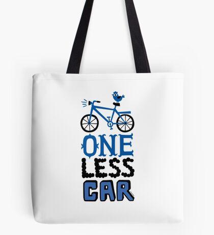 One Less Car Tote Bag