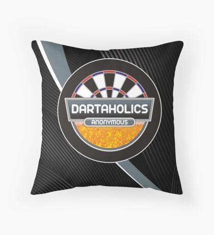 Dartaholics Anonymous Darts Shirt Throw Pillow