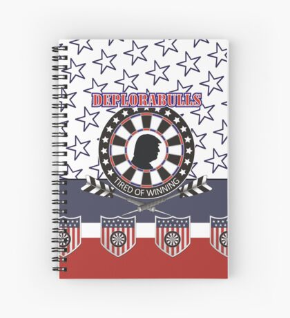 DeploraBulls Darts Shirt Spiral Notebook