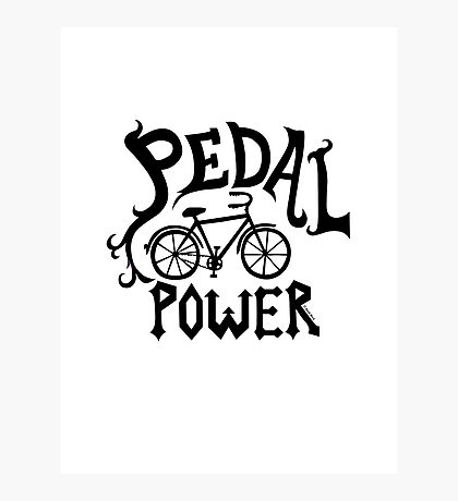 Pedal Power Photographic Print