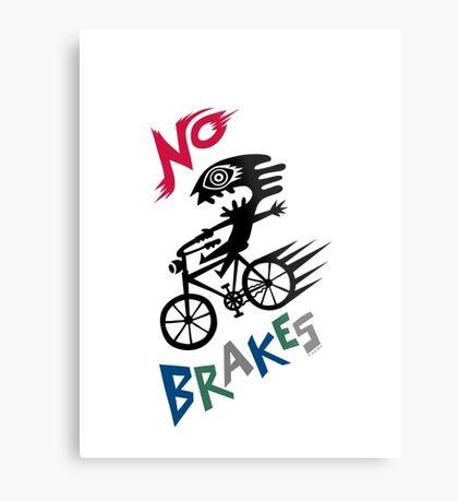 No Brakes Metal Print