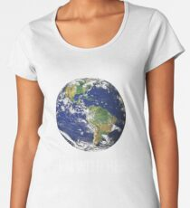 I'm With Her Mother Earth  Women's Premium T-Shirt