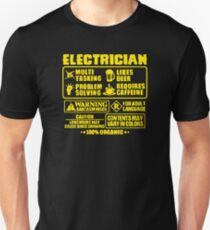 Electrician Multi Tasking Problem Solving T-Shirt