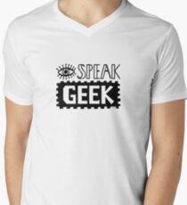 I Speak Geek Men's V-Neck T-Shirt