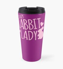 Crazy Rabbit (Hase) Dame in Rosa Thermobecher