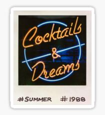 Cocktails and Dreams 80s Polaroid Sticker