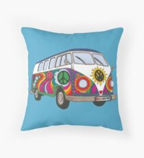Psychedelic Kombi Throw Pillow