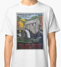 Vintage Travel Poster - Great Smoky Mountain National Park  Classic T-Shirt