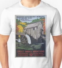 Vintage Travel Poster - Great Smoky Mountain National Park  Unisex T-Shirt