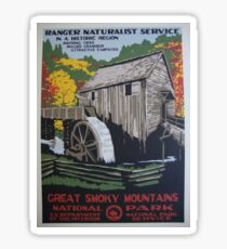 Vintage Travel Poster - Great Smoky Mountain National Park  Sticker