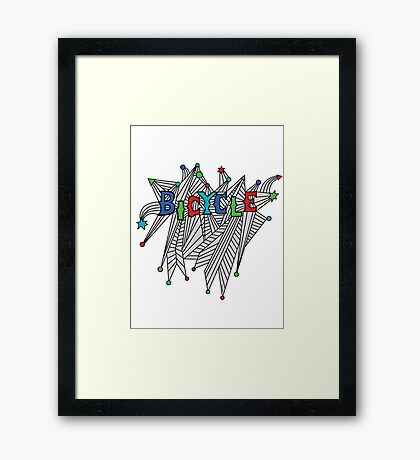 Bicycle Celebration Framed Print