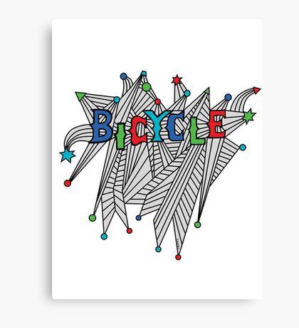 Bicycle Celebration Canvas Print