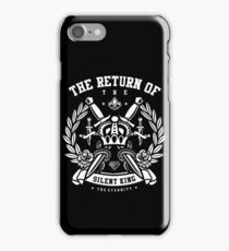 The Return Of The Silent King Retro Vintage Distressed Design iPhone Case/Skin