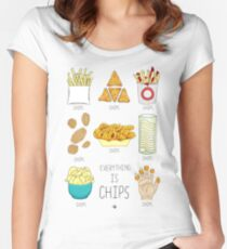 Everything Is Chips Women's Fitted Scoop T-Shirt
