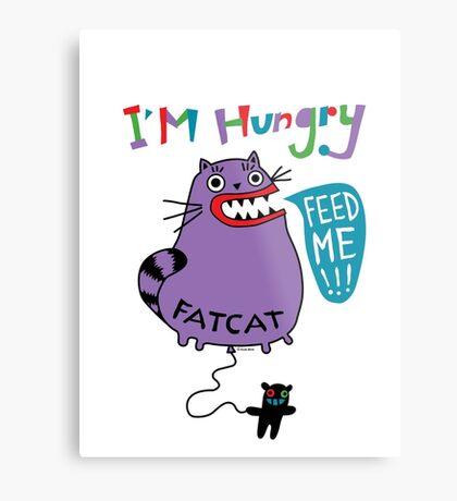 Fat Cat Metal Print