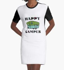 Happy Camper Graphic T-Shirt Dress
