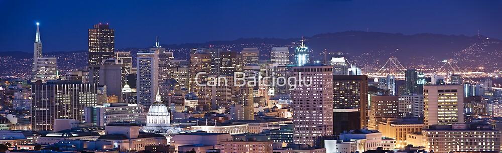 San Francisco skyline at night panorama by Can Balcioglu