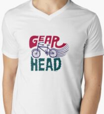 Gearhead - colored Mens V-Neck T-Shirt