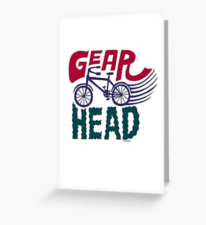 Gearhead - colored Greeting Card