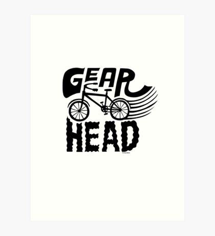 Gearhead -  black   Art Print