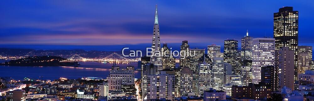 San Francisco skyline at night panorama 2 by Can Balcioglu