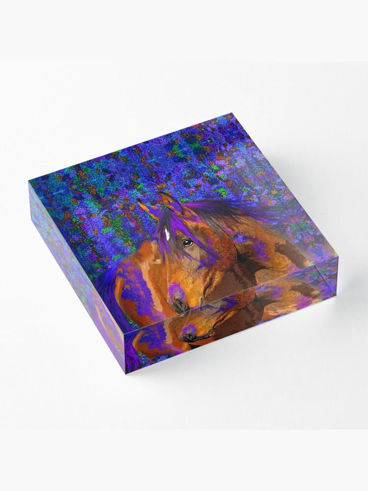 Alternate view of HORSE  Acrylic Block