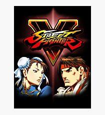 Street Fighter - Chun-li & Ryu Photographic Print