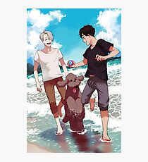 Beach day with Makkachin Photographic Print