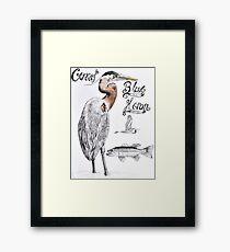 Great Blue Heron Framed Print