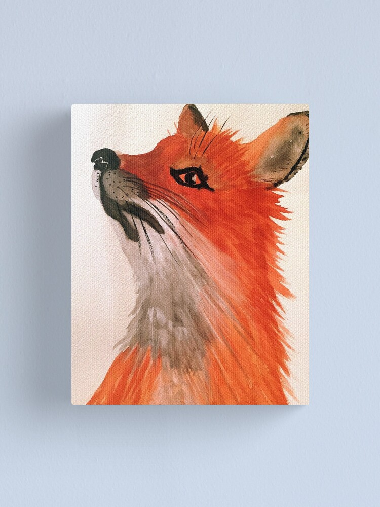 Alternate view of Crazy Like a Fox Canvas Print