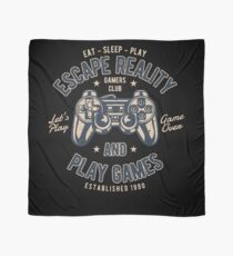 Escape Reality Play Games Retro Vintage Distressed Design Scarf
