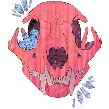 Cat Skull Crystals  by HidingMonster