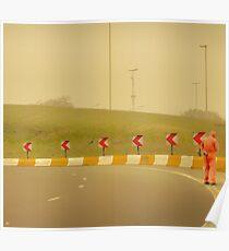 Belgium Highway Man Poster