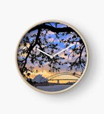 Sunset over Sydney Harbour, Australia Clock
