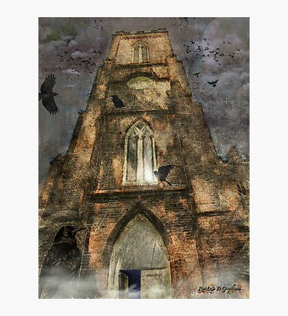 The Raven (image and poem) Photographic Print