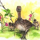 Mother Duck with Babies by imagesower
