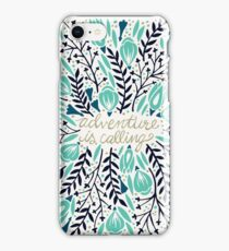 Adventure is Calling – Navy & Mint Palette iPhone Case/Skin