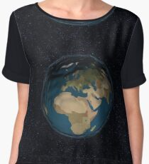 3D Low-Poly Planet Earth 1 Chiffon Top