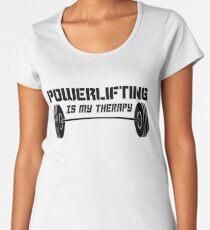 Powerlifting Therapy Women's Premium T-Shirt