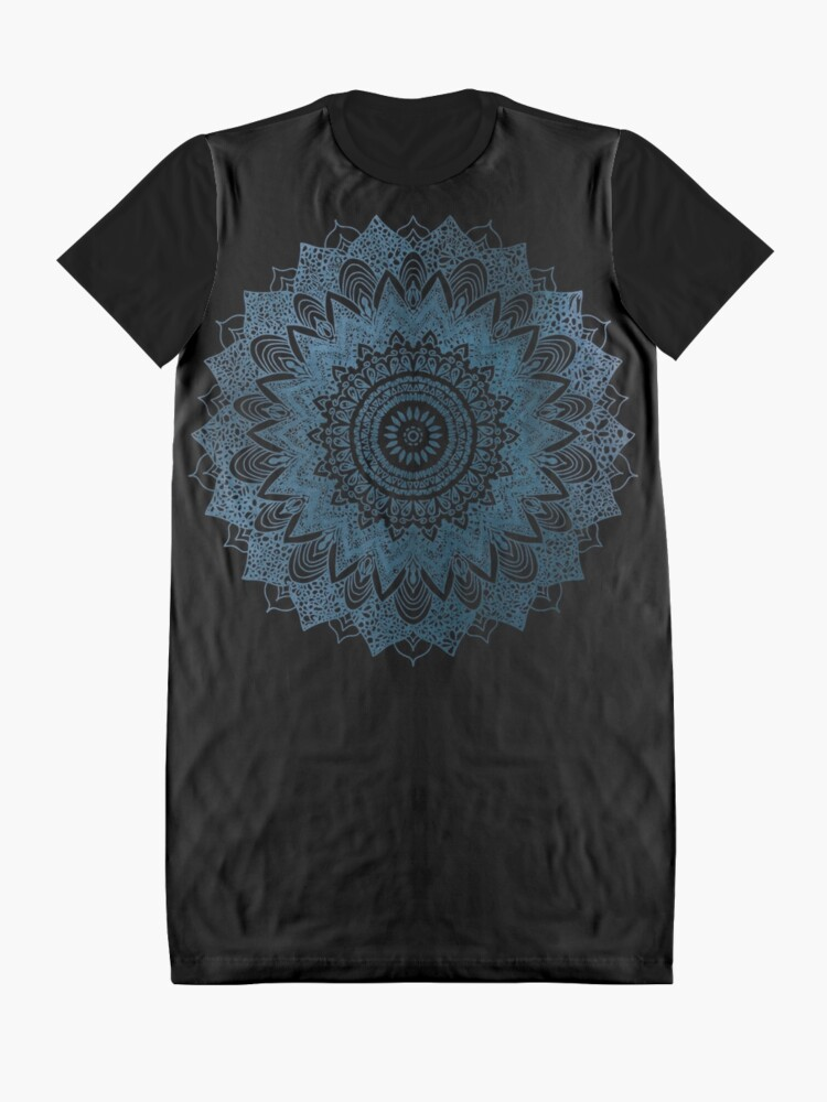 Alternate view of BOHOCHIC MANDALA IN BLUE Graphic T-Shirt Dress