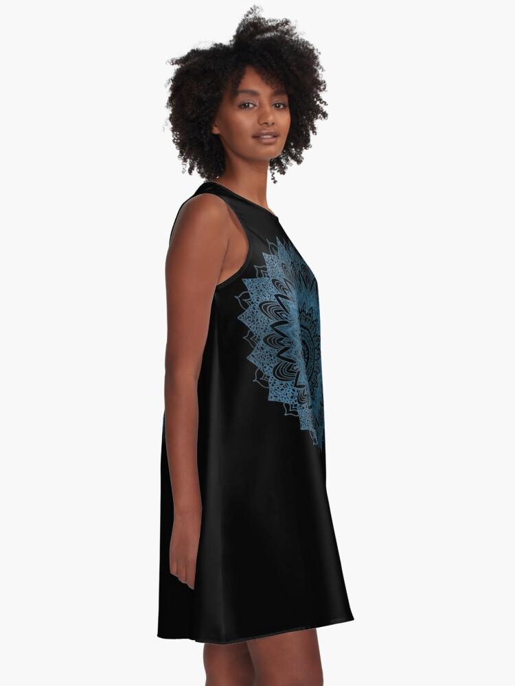 Alternate view of BOHOCHIC MANDALA IN BLUE A-Line Dress