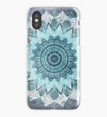 BOHOCHIC MANDALA IN BLUE iPhone Case