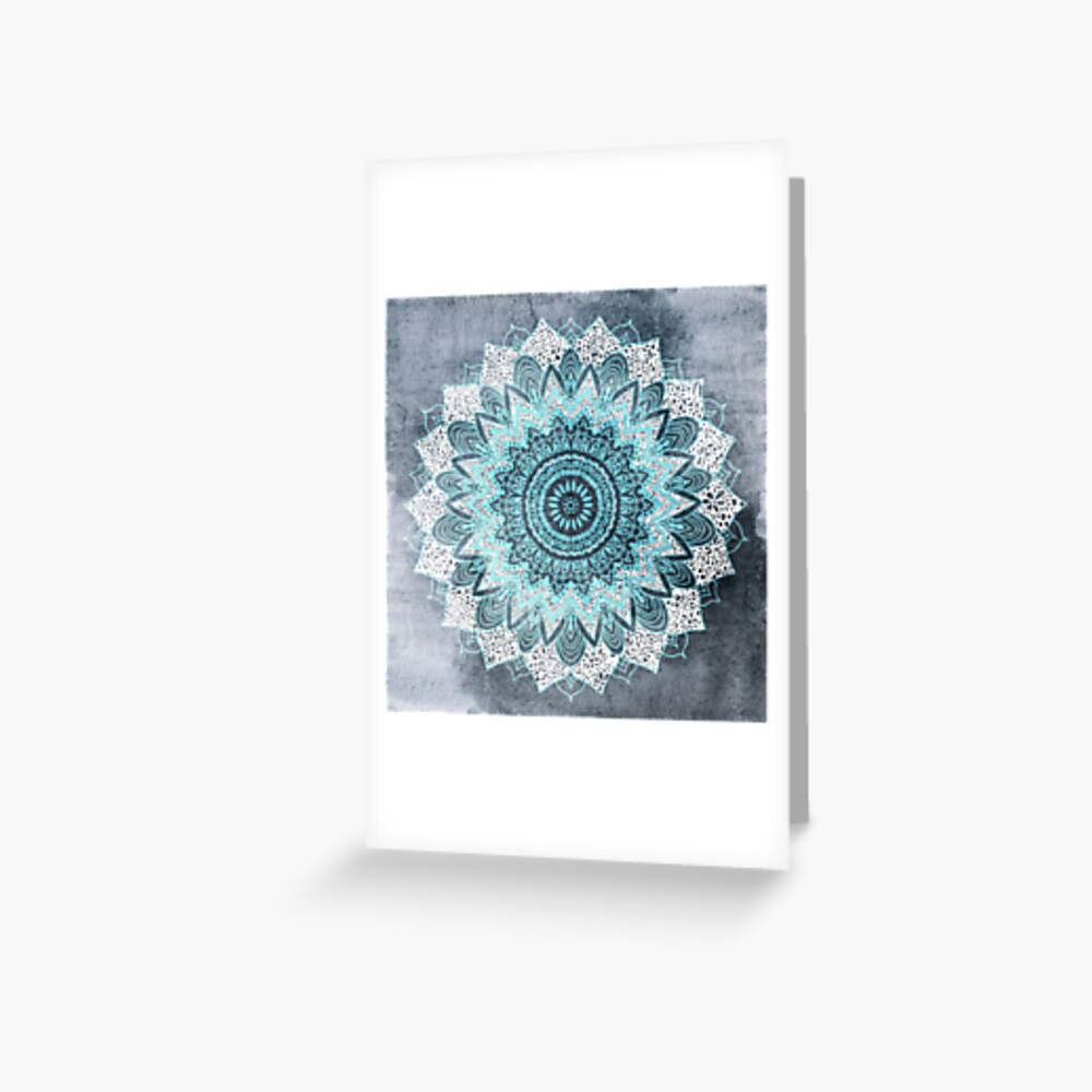 BOHOCHIC MANDALA IN BLUE Greeting Card