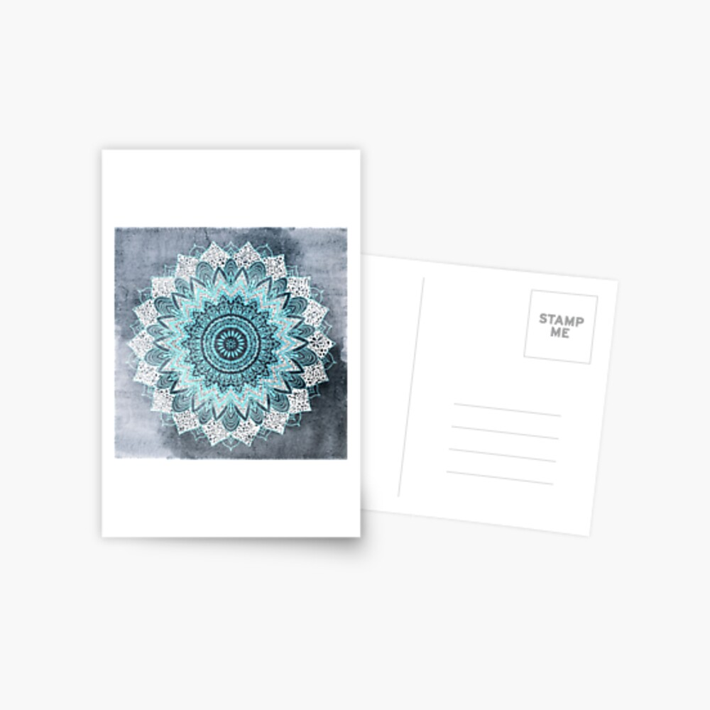 BOHOCHIC MANDALA IN BLUE Postcard
