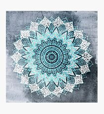 BOHOCHIC MANDALA IN BLUE Photographic Print