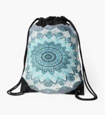 BOHOCHIC MANDALA IN BLUE Drawstring Bag